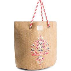 Torebka ROXY - ERJBT03084 Natural YEF0. Brązowe torebki do ręki damskie Roxy, z tworzywa sztucznego. W wyprzedaży za 129.00 zł.