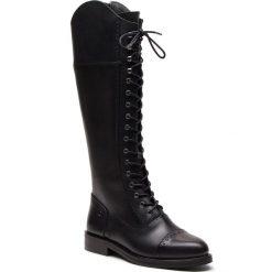 Oficerki TRUSSARDI JEANS - 79A002709 K299. Czarne kozaki damskie TRUSSARDI JEANS, z jeansu. Za 1,109.00 zł.