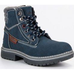 Buty dziecięce chłopięce traperki granatowe r. 33. Buty zimowe chłopięce marki bonprix. Za 151.12 zł.