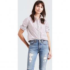 """Bluzka """"Casade"""" w kolorze biało-czerwonym. Białe bluzki damskie Levi's, w paski, z bawełny, z klasycznym kołnierzykiem. W wyprzedaży za 130.95 zł."""