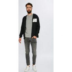 Calvin Klein Jeans - Bluza. Szare bluzy męskie Calvin Klein Jeans, z nadrukiem, z bawełny. W wyprzedaży za 399.90 zł.
