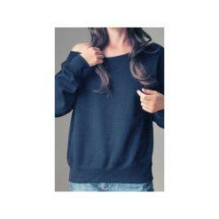 Czarna bluza dla karmiących matek. Szare bluzy damskie One mug a day, z nadrukiem, z bawełny. Za 119.00 zł.