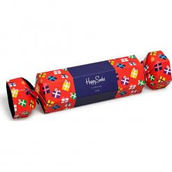 Happy Socks - Skarpety. Czerwone skarpety męskie Happy Socks, z bawełny. Za 69.90 zł.