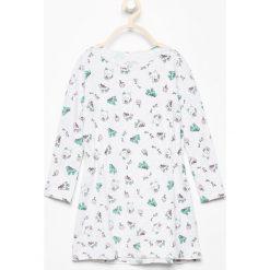 Bawełniana sukienka z nadrukiem - Jasny szar. Sukienki niemowlęce Reserved, z nadrukiem, z bawełny. W wyprzedaży za 14.99 zł.