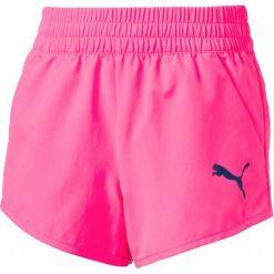 Puma Spodenki Sportowe Active Dry Ess Wovenshortsg Ko Pin. Różowe spodenki dla dziewczynek Puma, na lato, z tkaniny, sportowe. W wyprzedaży za 59.00 zł.