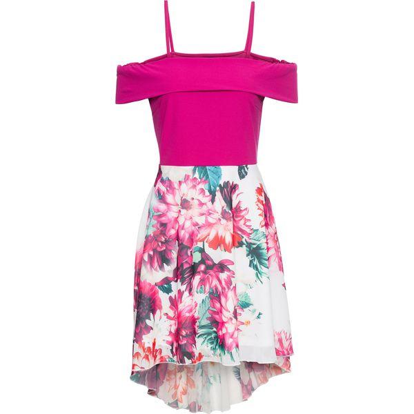 4a8cc2c5fb Sukienka z dżerseju z drukowaną częścią spódnicową z szyfonu bonprix ...
