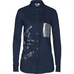 Długa bluzka bonprix ciemnoniebieski. Niebieskie bluzki damskie bonprix, z długim rękawem. Za 99.99 zł.