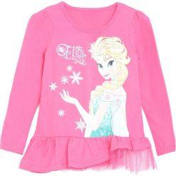 Różowa Bluzka Snow Girl. Białe bluzki dla dziewczynek Born2be, z motywem z bajki, z falbankami. Za 24.99 zł.
