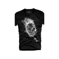 T-shirt UNDERWORLD Ring spun cotton Smoke Skull. Czarne t-shirty męskie Underworld, z nadrukiem, z bawełny. Za 59.99 zł.