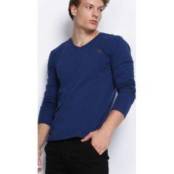 Ciemnoniebieska Koszulka Nights Away. Bluzki z długim rękawem męskie marki Marie Zélie. Za 34.99 zł.