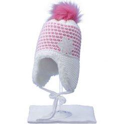 Czapka dziecięca z szalikiem CZ+S 043C różowo-biała r. 48-50. Czapki dla dzieci marki Pulp. Za 52.11 zł.