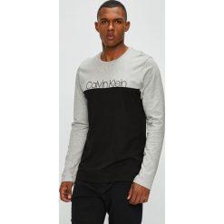 Calvin Klein Underwear - Longsleeve piżamowy. Szare bluzki z długim rękawem męskie Calvin Klein Underwear, z nadrukiem, z bawełny, z długim rękawem. Za 149.90 zł.