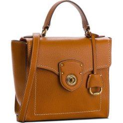 Torebka LAUREN RALPH LAUREN - Millbrook 431699021002 Brown. Brązowe torebki do ręki damskie Lauren Ralph Lauren, ze skóry. W wyprzedaży za 849.00 zł.