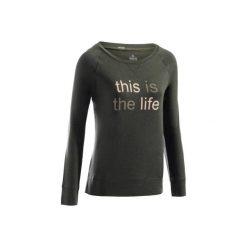 Koszulka długi rękaw Gym & Pilates 500 damska. Fioletowe koszulki sportowe damskie DOMYOS, z bawełny. Za 29.99 zł.