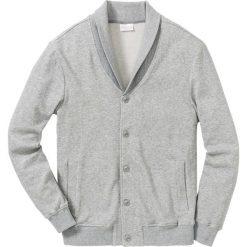 Bluza bejsbolówka dresowa ze strukturalnego materiału Regular Fit bonprix jasnoszary melanż. Szare bluzy męskie bonprix, melanż, z dresówki. Za 149.99 zł.