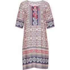 Sukienka z nadrukiem bonprix biel wełny - koralowy wzorzysty. Sukienki damskie bonprix, z nadrukiem, z wełny. Za 129.99 zł.