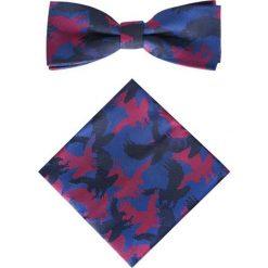 Mucha z poszetką MUW0003197. Czerwone krawaty i muchy Giacomo Conti, z nadrukiem. Za 129.00 zł.