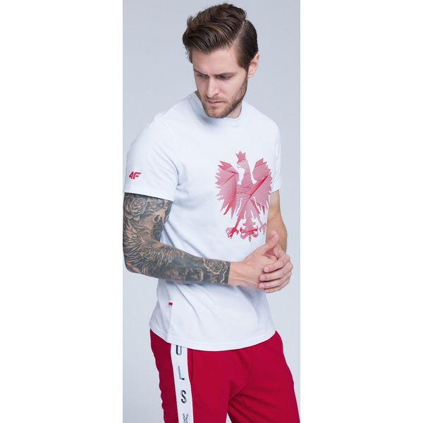 921aa6242103db Koszulka kibica męska TSM500 - biały - T-shirty męskie marki 4f. Za ...