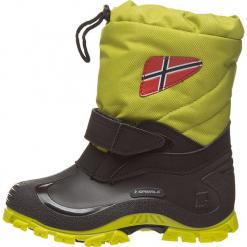 """Botki zimowe """"Morten"""" w jasno zielonym. Zielone buty zimowe chłopięce Spirale, z materiału. W wyprzedaży za 79.95 zł."""