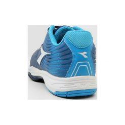 Diadora COMPETITION 4 AG Obuwie do tenisa Outdoor fluo blue/estate blue/white. Trekkingi męskie Diadora, z materiału, outdoorowe. Za 419.00 zł.