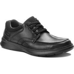 Półbuty CLARKS - Cotrell Edge 261373857  Blk Smooth Leather. Czarne półbuty na co dzień męskie Clarks, z materiału. W wyprzedaży za 219.00 zł.