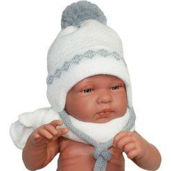 Czapka niemowlęca z szalikiem CZ+S 006A biała. Czapki dla dzieci marki Pulp. Za 38.76 zł.