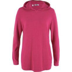 Bluza z kapturem bonprix jeżynowo-czerwony. Bluzy damskie marki bonprix. Za 49.99 zł.