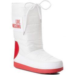 Śniegowce LOVE MOSCHINO - JA24022G16IK210A W.Ankle Boot. Białe śniegowce i trapery damskie Love Moschino, z materiału. Za 589.00 zł.