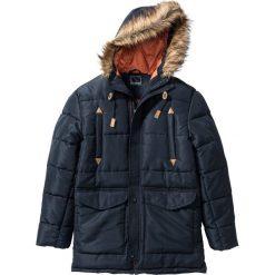 Kurtka parka zimowa Regular Fit bonprix niebieski. Niebieskie kurtki męskie bonprix, na zimę. Za 239.99 zł.