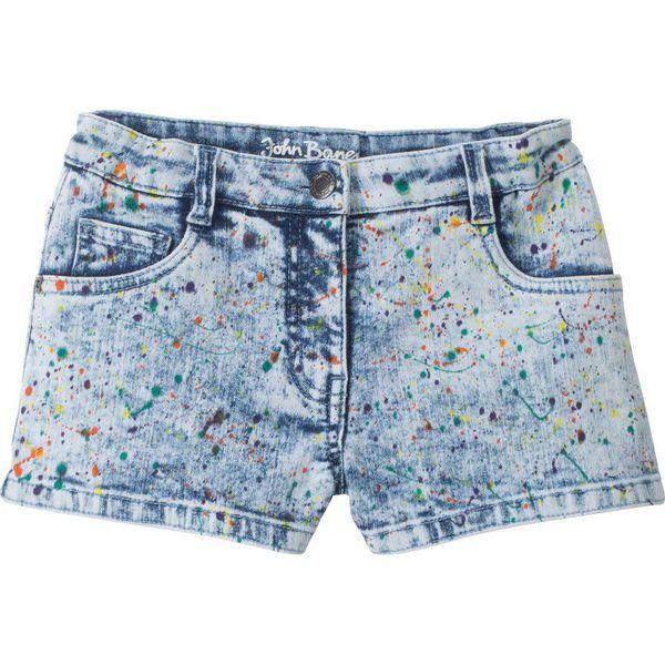 cfaa50570 Kolorowe szorty dżinsowe bonprix niebieski
