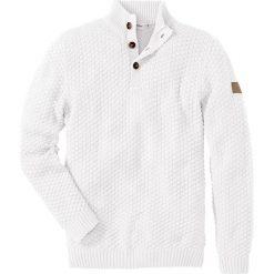 Sweter Slim Fit bonprix biel wełny. Swetry przez głowę męskie marki Giacomo Conti. Za 89.99 zł.