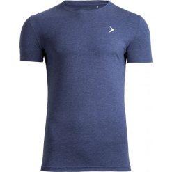 T-shirt męski TSM601 - granatowy melanż - Outhorn. Niebieskie t-shirty męskie Outhorn, na lato, melanż, z bawełny. W wyprzedaży za 29.99 zł.