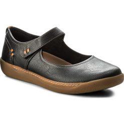 Półbuty CLARKS - Un Haven Strap 261321924 Black Leather. Czarne półbuty damskie Clarks, z materiału. W wyprzedaży za 269.00 zł.