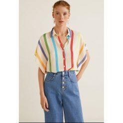Mango - Koszula Carioca. Szare koszule damskie Mango, z krótkim rękawem. W wyprzedaży za 89.90 zł.