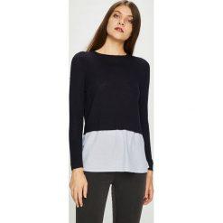 Only - Sweter New Oxford. Czarne swetry damskie Only, z bawełny, z okrągłym kołnierzem. Za 129.90 zł.