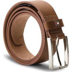 Pasek Męski TOMMY HILFIGER - Smooth Leather Belt AM0AM03483 85 206. Brązowe paski damskie Tommy Hilfiger, w paski, ze skóry. Za 179.00 zł.