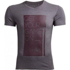 T-shirt męski TSM604 - ŚREDNI SZARY MELANŻ - Outhorn. Szare t-shirty męskie Outhorn, na jesień, melanż, z bawełny. W wyprzedaży za 27.99 zł.