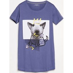 Koszula nocna - Granatowy. Niebieskie koszule nocne damskie Reserved. Za 59.99 zł.