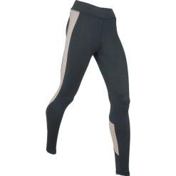 Legginsy sportowe wyszczuplające, długie, Level 2 bonprix czarno-szary. Legginsy damskie marki DOMYOS. Za 109.99 zł.