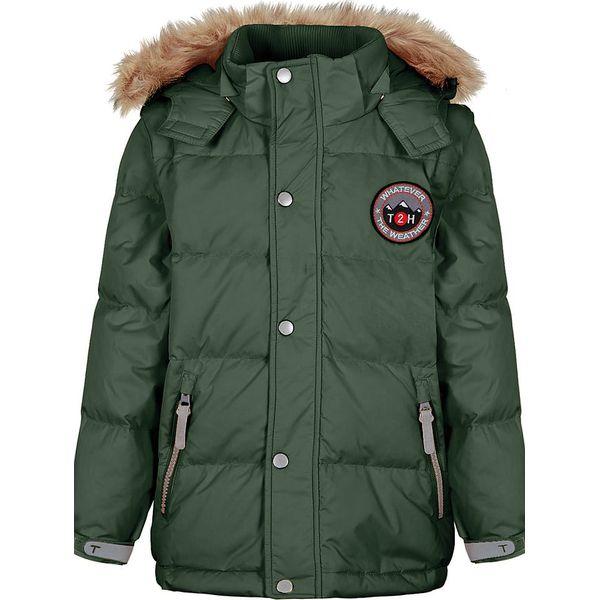 72f2cf7b95487 Kurtka puchowa w kolorze zielonym - Zielone kurtki i płaszcze dla ...