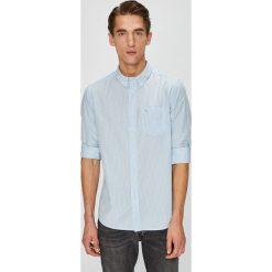 Wrangler - Koszula. Szare koszule męskie Wrangler, w paski, z bawełny, button down, z długim rękawem. Za 189.90 zł.