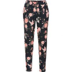 Spodnie jogger bonprix koralowy w kwiaty. Spodnie materiałowe damskie marki MAKE ME BIO. Za 79.99 zł.
