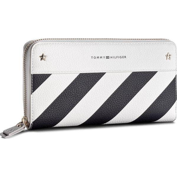f9cfe3a358350 Duży Portfel Damski TOMMY HILFIGER - Cool Hardware Za Wallet Stripe ...