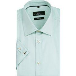 Koszula SIMONE KKZR000012. Zielone koszule męskie Giacomo Conti, z bawełny, z włoskim kołnierzykiem, z krótkim rękawem. Za 169.00 zł.