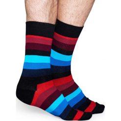 Happy Socks - Skarpety Stripe. Niebieskie skarpety męskie Happy Socks, z bawełny. W wyprzedaży za 29.90 zł.