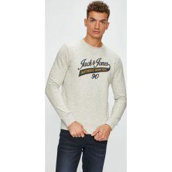 Jack & Jones - Bluza. Szare bluzy męskie Jack & Jones, z nadrukiem, z bawełny. W wyprzedaży za 89.90 zł.