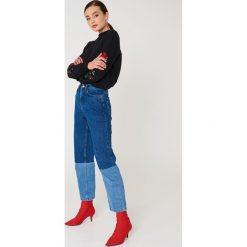 NA-KD Bluza z wyszywanymi różami na rękawach - Black. Czarne bluzy damskie NA-KD, z bawełny. Za 133.95 zł.