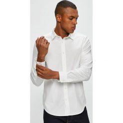 Diesel - Koszula. Szare koszule męskie Diesel, z bawełny, z klasycznym kołnierzykiem, z długim rękawem. W wyprzedaży za 379.90 zł.
