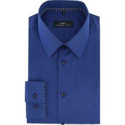 Koszula MICHELE 16-04-09-K. Niebieskie koszule męskie Giacomo Conti, z bawełny, z klasycznym kołnierzykiem, z długim rękawem. Za 199.00 zł.