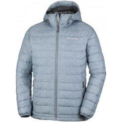 Columbia Kurtka Zimowa Powder Lite Hooded Jacket Grey Ash Print S. Szare kurtki sportowe męskie Columbia, na zimę, z materiału. W wyprzedaży za 379.00 zł.